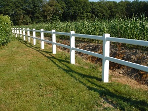 M.L. PVC-U FENCE 1,40M 2 HEIGHTS