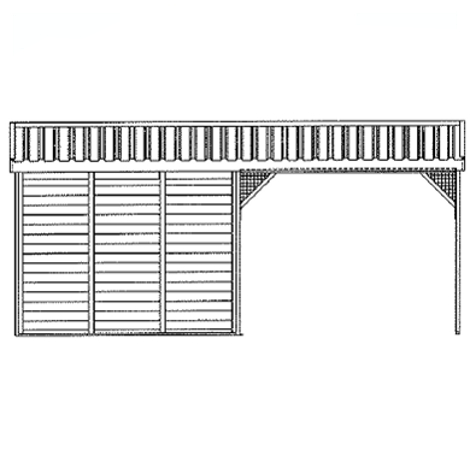 FRONTAL PANEL SHELTER FOR MEADOW