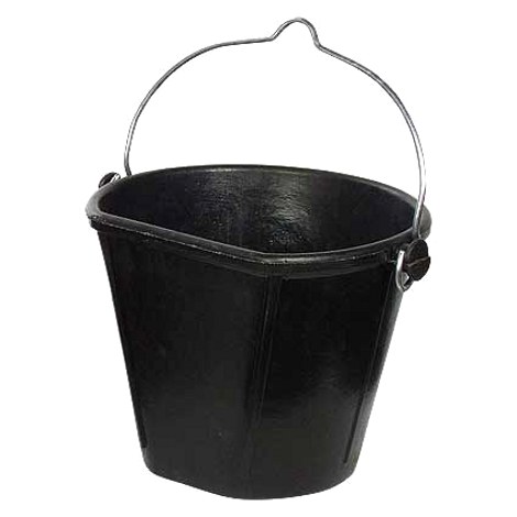 RUBBER FLAT SIDED HANGING BUCKET