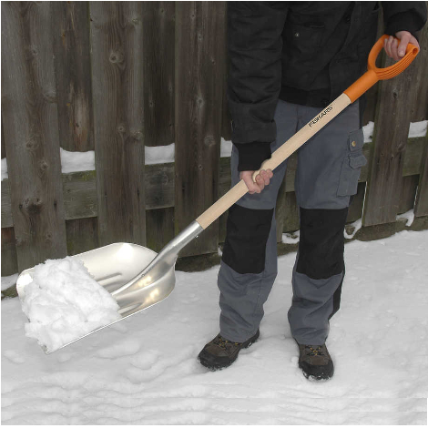 ALUMINUM SHOVEL WITH HANDLE